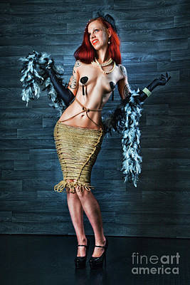 Photograph - Burlesque Lady - Fine Art Of Bondage by Rod Meier