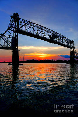 Photograph - Burlington Bristol Bridge Opening At Dusk by Olivier Le Queinec