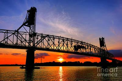 Burlington Bristol Bridge Sunset  Art Print