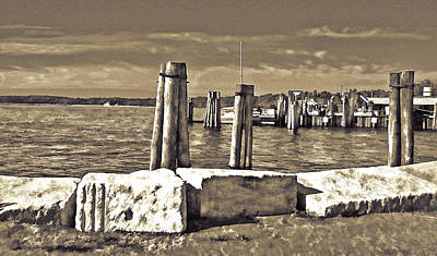 Burlington Pier Art Print