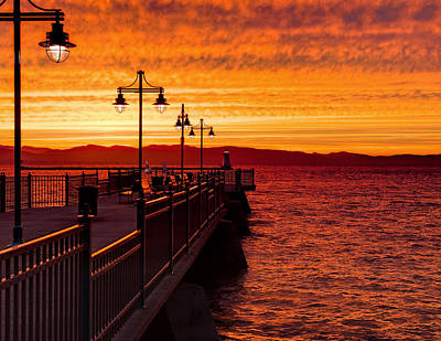 Burlington Sunset Art Print
