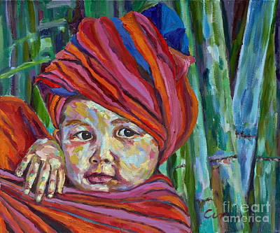 Painting - Burma Baby by Michael Cinnamond