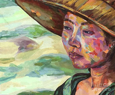 Painting - Burma Farm Girl by Michael Cinnamond