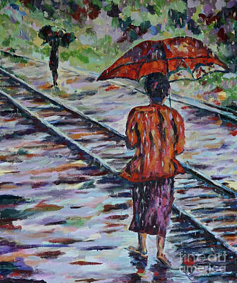 Painting - Burma In The Rain by Michael Cinnamond