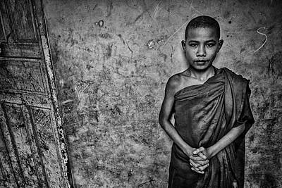 Photograph - Burma Orphan Monk by David Longstreath