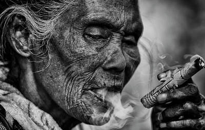 Photograph - Burma Smoker by David Longstreath