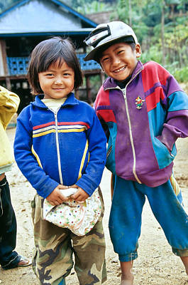 Burmese Brother & Sister Art Print