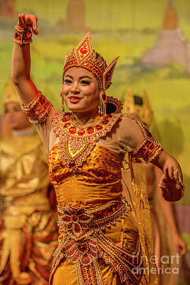 Photograph - Burmese Dance 2 by Werner Padarin