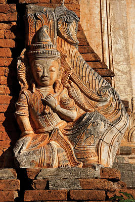 Photograph - Burmese Pagoda Sculpture by Michele Burgess