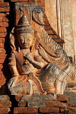 Photograph - Burmese Pagoda Sculpture by Michele Burgess