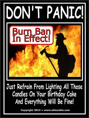 Digital Art - Burn Ban In Effect by The GYPSY And DEBBIE