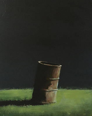 Barrel Painting - Burn Barrel by Jeffrey Bess