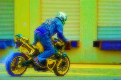 Motorcycle Photograph - Burn Out 4 by Cindy Nunn