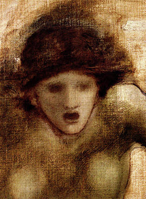 Gorgon Digital Art - Burne Jones Edward Coley Study For One Of The Gorgons In The Finding Of Perseus by PixBreak Art
