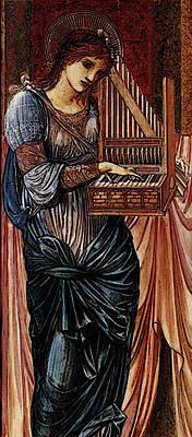 Burne Jones Sir Edward Coley St Cecilia Art Print