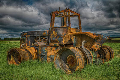 Photograph - Burned Out Farm Tractor by Patti Deters