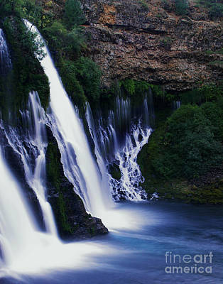Waterfall Photograph - Burney Blues by Peter Piatt