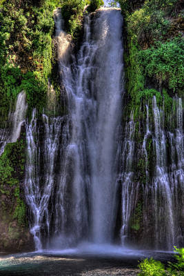 Photograph - Burney Falls 3 by Richard J Cassato