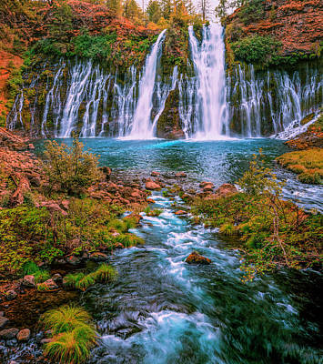 Photograph - Burney Falls And Creel by PhotoWorks By Don Hoekwater