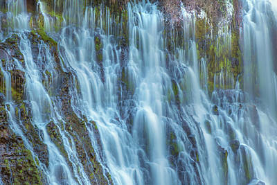 Photograph - Burney Falls Detail by Marc Crumpler