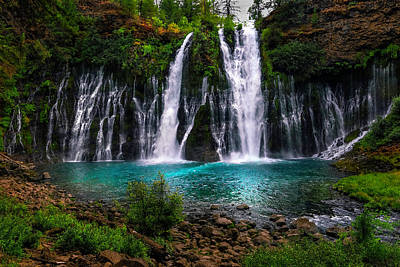 Photograph - Burney Falls In Late Summer by PhotoWorks By Don Hoekwater