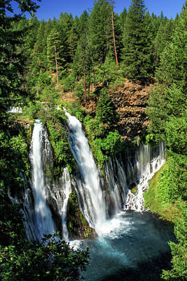 Photograph - Burney Falls by James Eddy