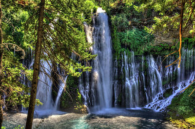 Photograph - Burney Falls by Richard J Cassato