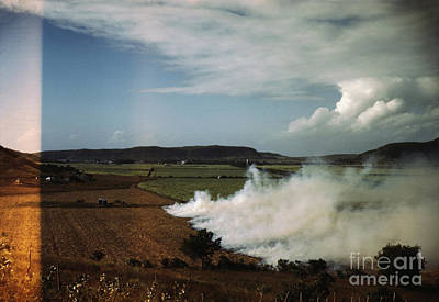 Puerto Rico Painting - Burning A Field Of Sugar Cane by Celestial Images