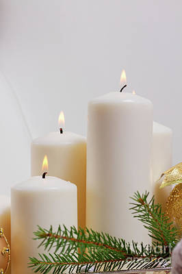 Photograph - Burning Advent Candles by Anastasy Yarmolovich
