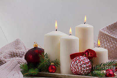 Photograph - Burning Advent Candles II by Anastasy Yarmolovich
