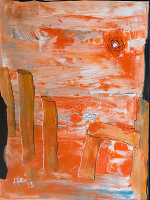 Painting - Burning Bay by Hans Magden