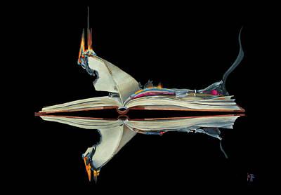 Painting - Burning Book by Jette Van der Lende