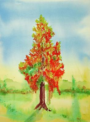 Painting - Burning Bush by Pete Maier