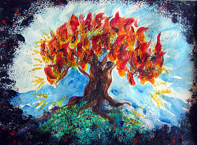 Painting - Burning Bush by Sarah Hornsby