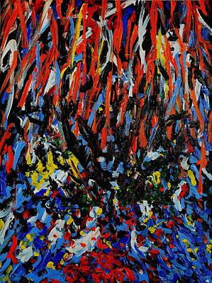 Painting - Burning Bush by Wayne Salvatore
