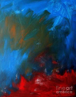 Raging Painting - Burning Desire by Julie Lueders