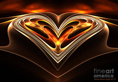 Digital Art - Burning Desire by Sandra Bauser Digital Art