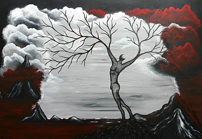 Surreal Landscape Painting - Burning Desire by Sylvia Sotuyo