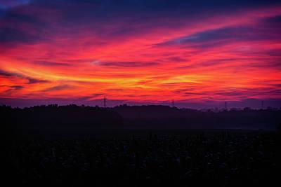 Photograph - Burning Fields by CJ Schmit