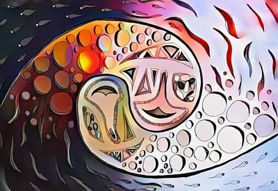 Digital Art - Burning Flipside by Andrew Herman