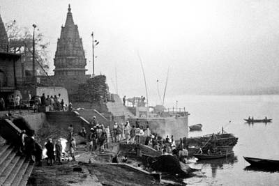 Cremation Ghat Photograph - Burning Ghats  by Neil Pankler