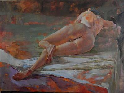 Bight Colors Painting - Burning Heels by Irina Petrukhina
