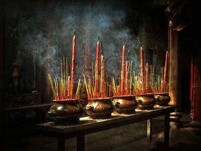 Burning Incense Art Print