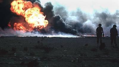 Bsloc Photograph - Burning Kuwaiti Oil Field by Everett