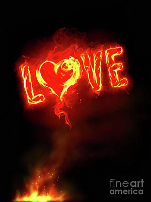 Photograph - Burning Love by Jerry Bunger