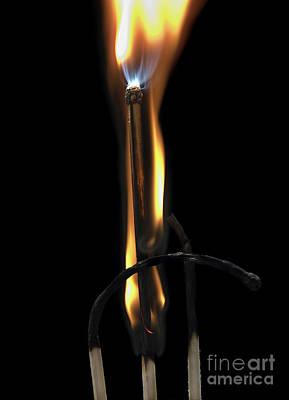 Burning Matches Art Print