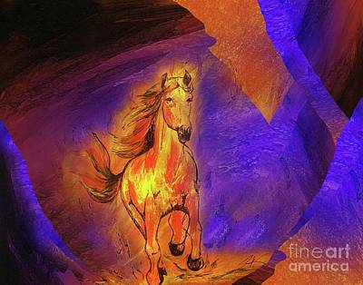Painting - Burning One by Jennifer Page