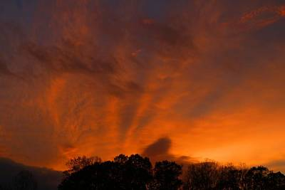 Photograph - Burning Sky 1 by Kathryn Meyer