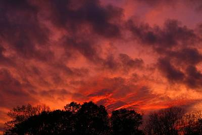Photograph - Burning Sky 2 by Kathryn Meyer
