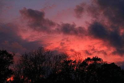 Photograph - Burning Sky 3 by Kathryn Meyer